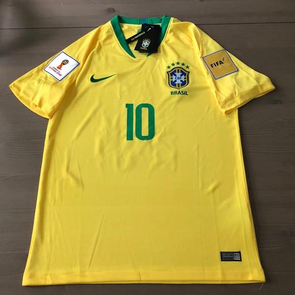 80f08c6b3 Brasil Brazil Neymar Jr.  10 Soccer Jersey